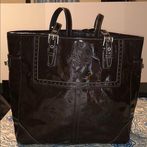 Coach Brown Patent Leather Brown